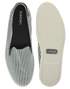 Image 3 ofLacoste Otay 3 Exclusive To ASOS Slip On Plimsolls