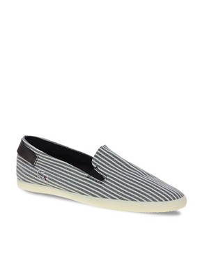 Image 1 ofLacoste Otay 3 Exclusive To ASOS Slip On Plimsolls