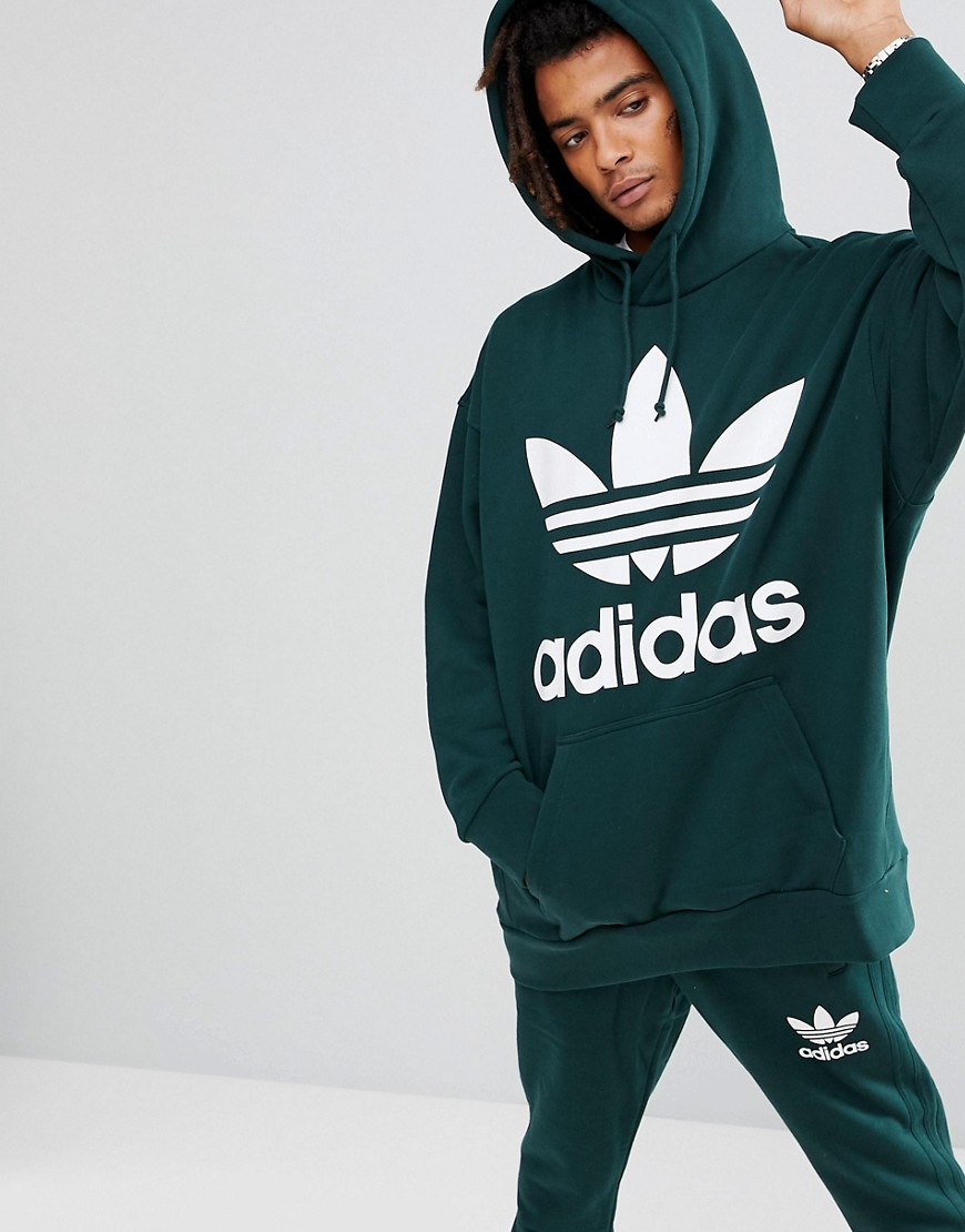 adidas Originals Boxy Hoodie In Green BQ2096 - Green
