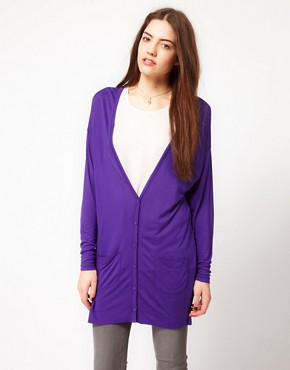 Image 1 ofFrench Connection Slouchy Jersey Cardigan