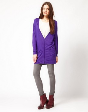 Image 4 ofFrench Connection Slouchy Jersey Cardigan