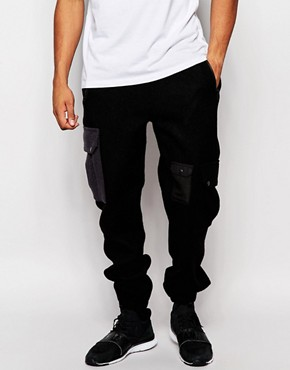ASOS Slim Joggers With Cargo Pockets In Harris Tweed
