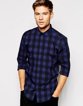 ASOS Shirt In Long Sleeve With Buffalo Check