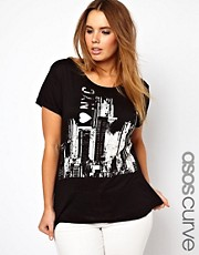 ASOS CURVE Exclusive T-Shirt With New York Print