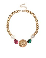 ASOS Jewel &amp; Coin Necklace
