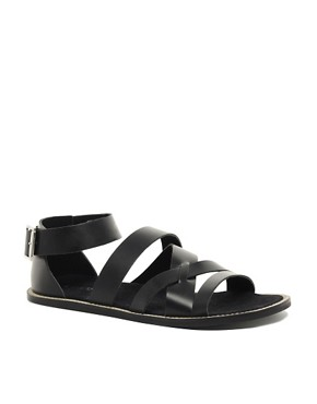 Image 1 ofASOS Multi Strap Leather Sandals