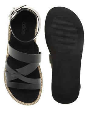 Image 3 ofASOS Multi Strap Leather Sandals