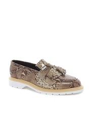 ASOS Tassel Loafers in Snake Made in England
