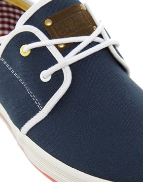 Image 2 ofFish &amp; Chips by Base London Plimsolls