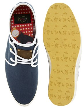 Image 3 ofFish &amp; Chips by Base London Plimsolls