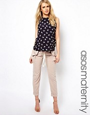 ASOS Maternity Trousers with Drape Utility Pockets