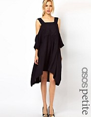 ASOS PETITE Smock Dress With Strap Cold Shoulder