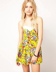 Motel Ditsy Floral Skater Dress