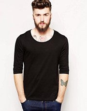 ASOS 3/4 Sleeve T-Shirt With Bound Scoop Neck