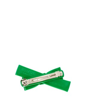 Image 2 ofSonia By Sonia Rykiel Green Bow Barrette