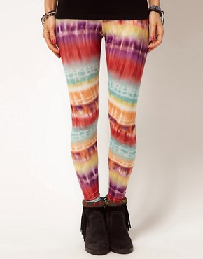 Bild 4 von ASOS  Leggings mit leuchtendem Batikmuster