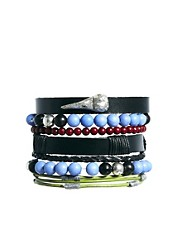 ASOS Leather Bracelet Pack