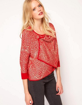 Image 1 ofSee by Chloe Intarsia Draped Cardigan