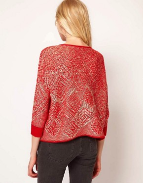 Image 2 ofSee by Chloe Intarsia Draped Cardigan