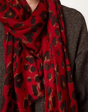 Image 2 ofFrench Connection Leopard Scarf