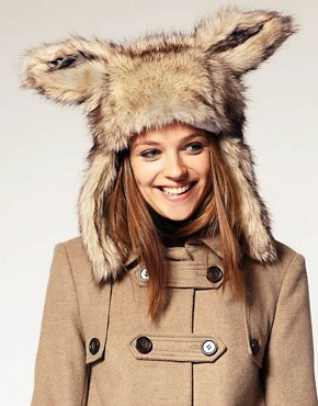 Image 1 ofASOS Faux Fur Bunny Ear Hat