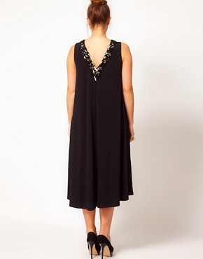 Image 2 ofASOS CURVE Exclusive Swing Dress With Embellishment