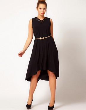 Image 4 ofASOS CURVE Exclusive Swing Dress With Embellishment