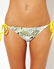 Ted Baker Dancing Leaves Print Bikini Bottom