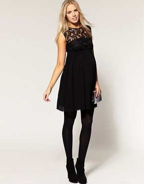Image 4 of ASOS MATERNITY Lace Skater Dress