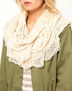 Image 2 ofOasis Crochet Ruffle Snood