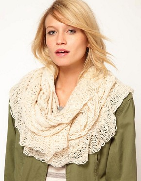 Image 1 ofOasis Crochet Ruffle Snood