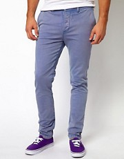 ASOS Skinny Chino With Acid Wash
