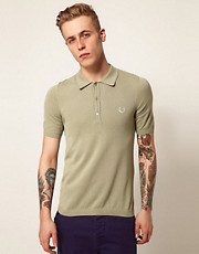 Fred Perry Laurel Wreath Knitted Polo with Tipping