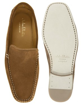 Image 3 ofJohn White Venice Suede Loafers