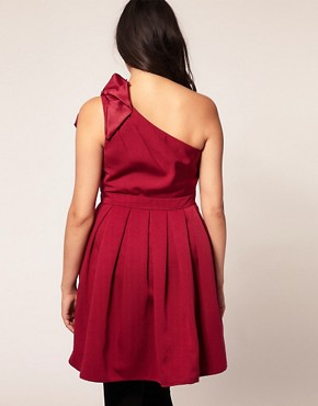 Image 2 ofASOS Curve Exclusive Cocktail Dress With Corsage Shoulder