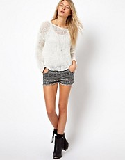 Brave Soul  Shorts mit Aztekenmuster