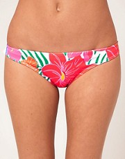 ASOS Bright Tropical Print Hipster Bikini Brief