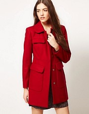 French Connection Textured Wool Mix Coat