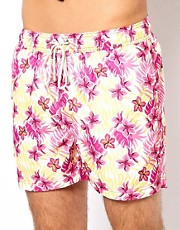 Oiler &amp; Boiler Tropical Floral Limited Edition Swim Shorts