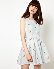 Nishe Prom Dress With Goldfish Embroidery