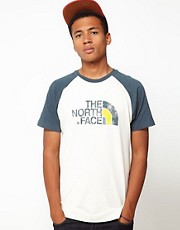 The North Face T-Shirt with Raglan Contrast Sleeves