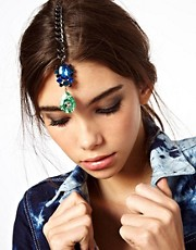 ASOS Double Gem Spike Tikka Hair Clip