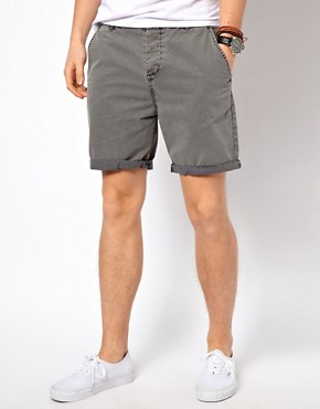 Image 1 ofASOS Chino Shorts With Acid Wash