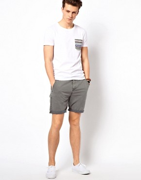 Image 4 ofASOS Chino Shorts With Acid Wash