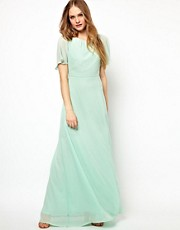 Jarlo Embellished Shoulder Empire Maxi Dress
