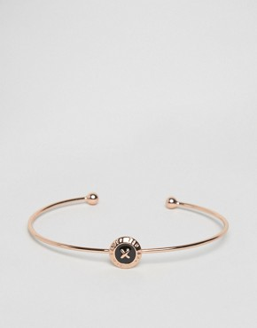 Ted Baker Enamel Mini Button Ultra Fine Cuff