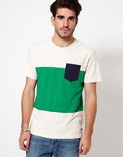 Levis T-Shirt Soma Colour Block Pocket Stripe