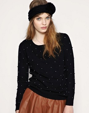 Image 1 ofASOS Faux Pearl Detail Jumper