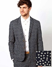ASOS Slim Fit Blazer in Ditsy Floral