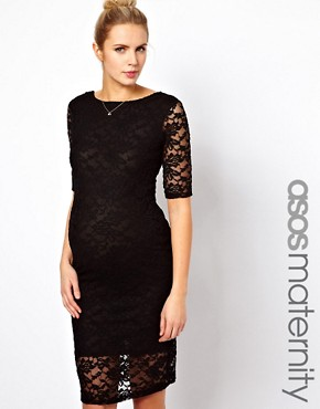 Image 1 ofASOS Maternity Midi Dress In Lace